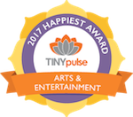 TinyPulse Happiest Arts & Entertainment Award